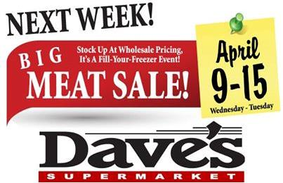 Dave's Big Meat Sale